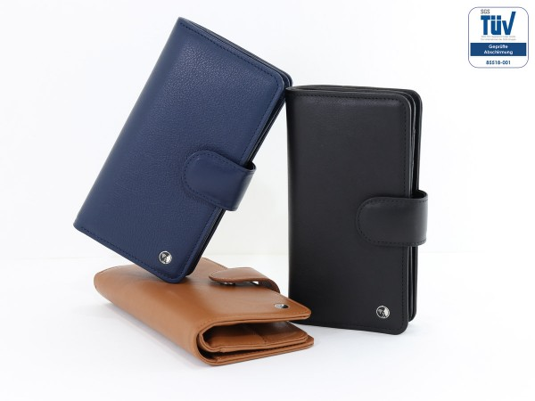 Spy-proof phone case - Funkstille Bookcase - leather
