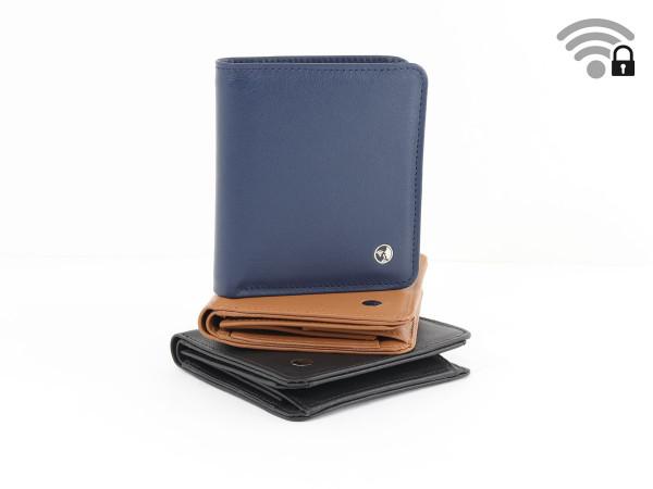 Funkstille Wallet - Portemonnaie mit RFID-Schutz - Leder