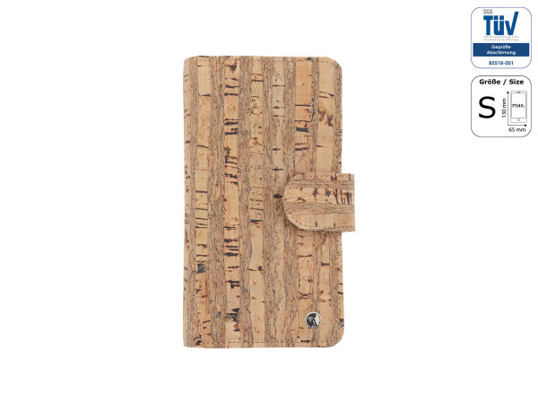 Spy-proof phone case - Funkstille Bookcase - cork - S - natural - outside