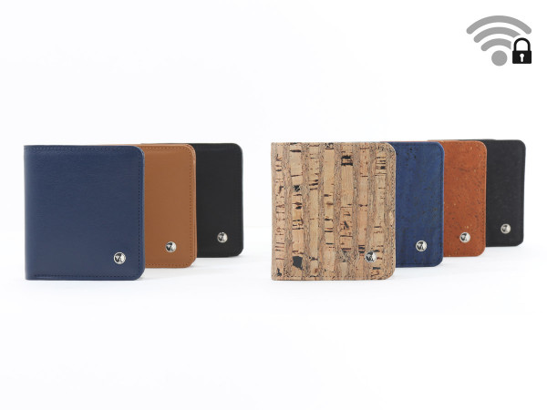 Funkstille Wallet - wallet with RFID protection - cork and leather