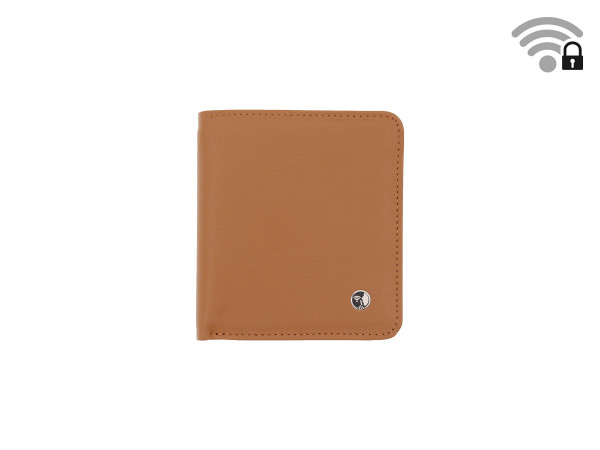 Funkstille Wallet - wallet with RFID protection - leather - brown - front