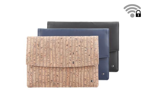 Funkstille Tablet - spionagesichere Tablet-Tasche - Leder und Kork