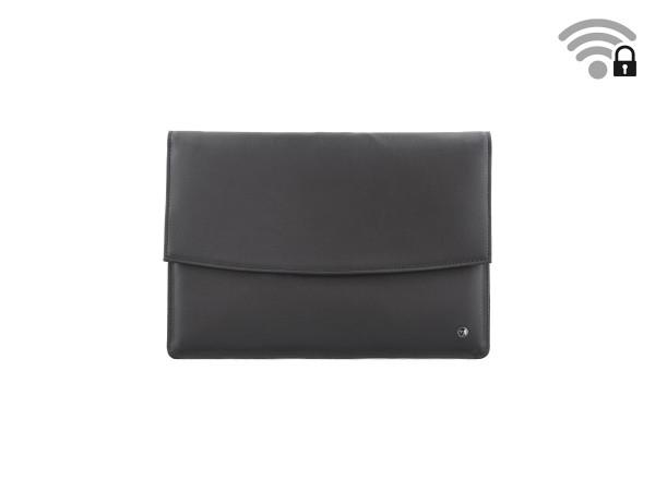 Funkstille Tablet - spionagesichere Tablet-Tasche - Leder - L - schwarz