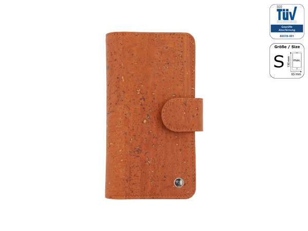 Spy-proof phone case - Funkstille Bookcase - cork - S - brown - outside