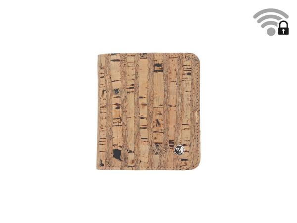 Funkstille Wallet - Portemonnaie mit RFID-Schutz - Kork - natur - vorne