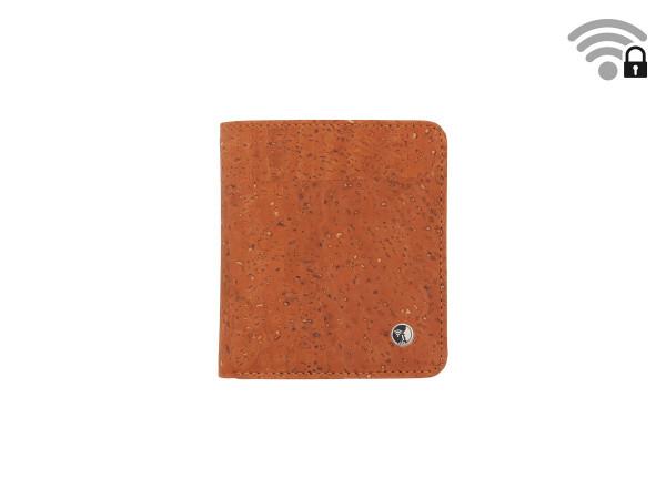 Funkstille Wallet - Portemonnaie mit RFID-Schutz - Kork - braun - vorne